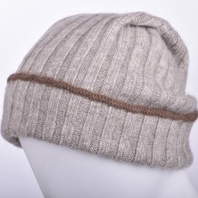 NOOS ヤクニット帽A モンゴル国産 天然ヤク メンズ