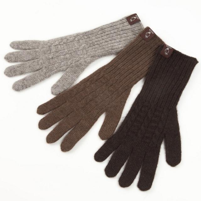 ヤク手袋 【編み模様】