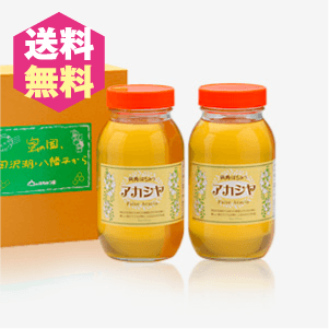 アカシヤ蜂蜜2本セット 大【送料無料】 [商品番号:1233]