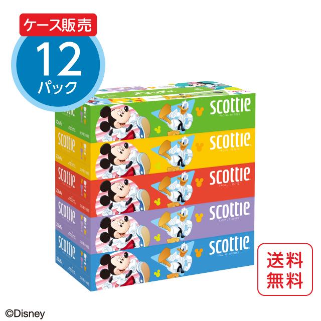 スコッティ ティシュー 5箱パック ディズニー「ミッキー&フレンズ」