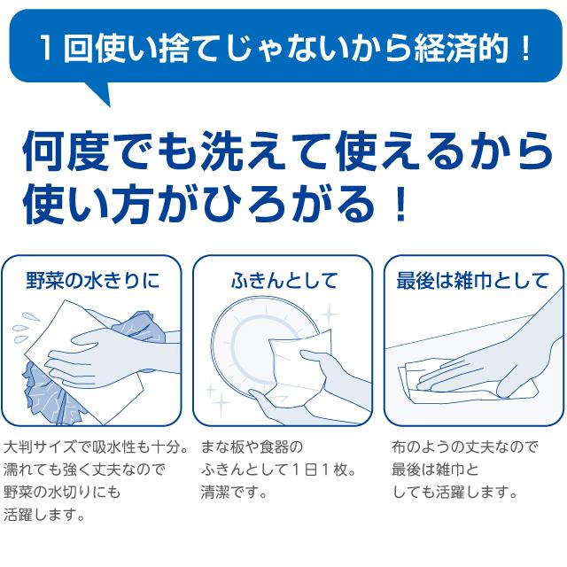 スコッティファイン 洗って使えるペーパータオル