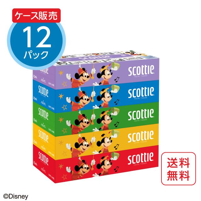 スコッティ ティシュー 5箱パック ディズニー