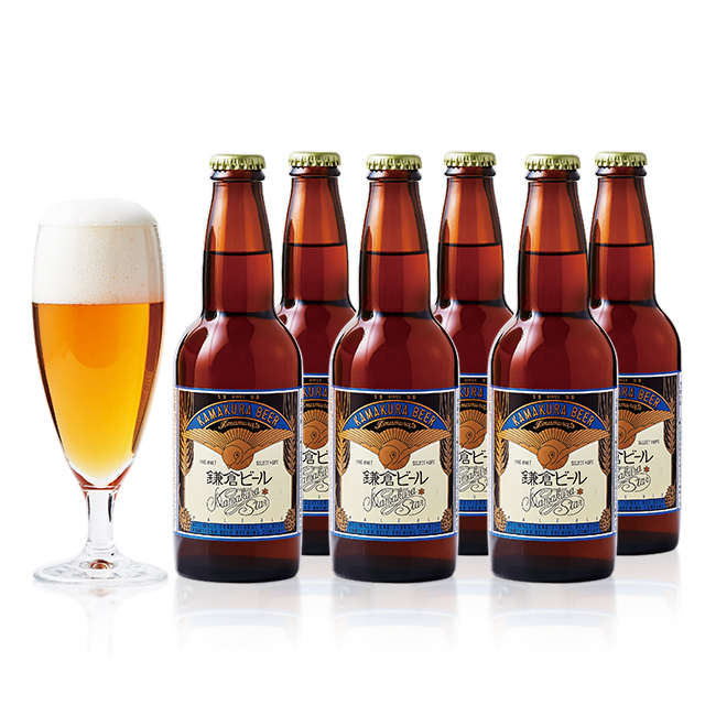 クラフトビールが初めての方におすすすめ 鎌倉ビール星(ペールエール)6本セット