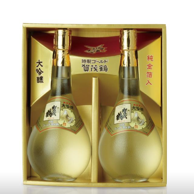 大吟醸 特製ゴールド賀茂鶴 720ml (GK-B2) 2本化粧箱入