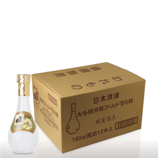 【12本セット】大吟醸特製ゴールド賀茂鶴180ml 丸瓶