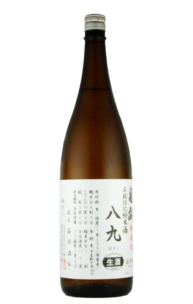 亀齢 八九 五段仕込み 純米酒(1800ml)
