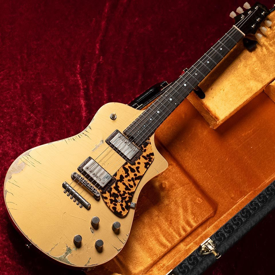 Asher Guitars/ES-1 Electro Sonic (Gold Top Heavy Aged) 2019 Winter Namm Model