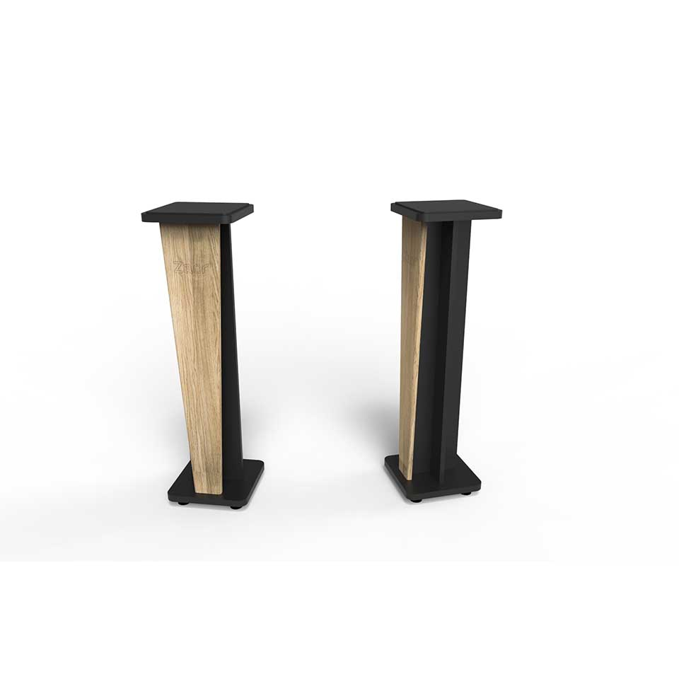 Zaor Studio Furniture/Croce Stand 36 (pair) Oak/Black【受発注品】