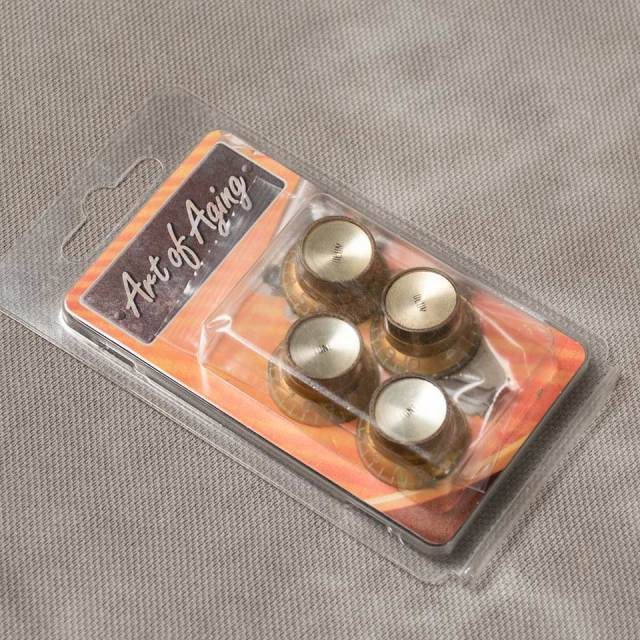 Vintage Maniacs/Art of Aging Reflector Knob Gold AGED 【ノブ】【リフレクター】【メタルトップ】【ヴィンテージ マニアックス】【お取り寄せ商品】