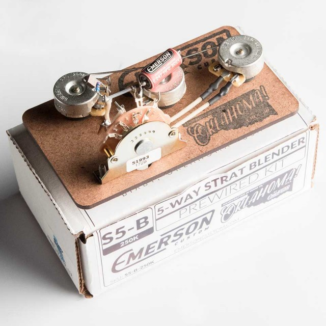 Emerson Custom/Emerson Custom Pre-Wired Kit 5-Way Stratocaster Blender【エマーソン】【在庫あり】