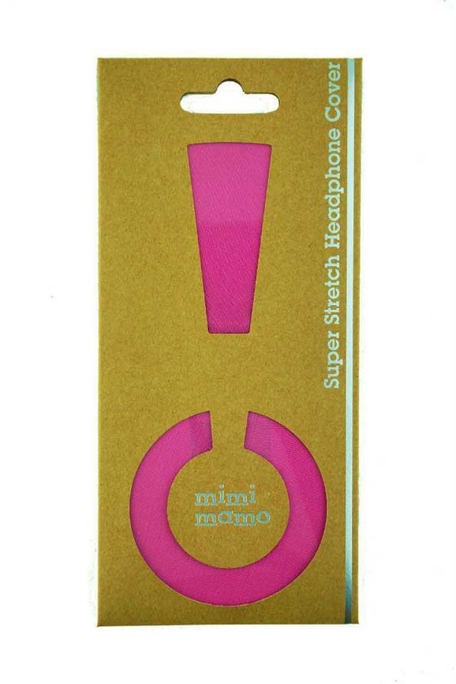 mimimamo/スーパーストレッチヘッドホンカバー M (ピンク)【在庫あり】【ネコポス発送】