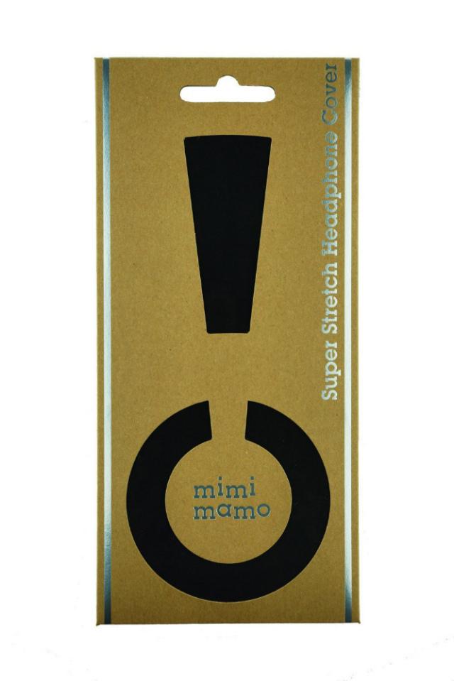 mimimamo/スーパーストレッチヘッドホンカバー L (ブラック)【在庫あり】【ネコポス発送】