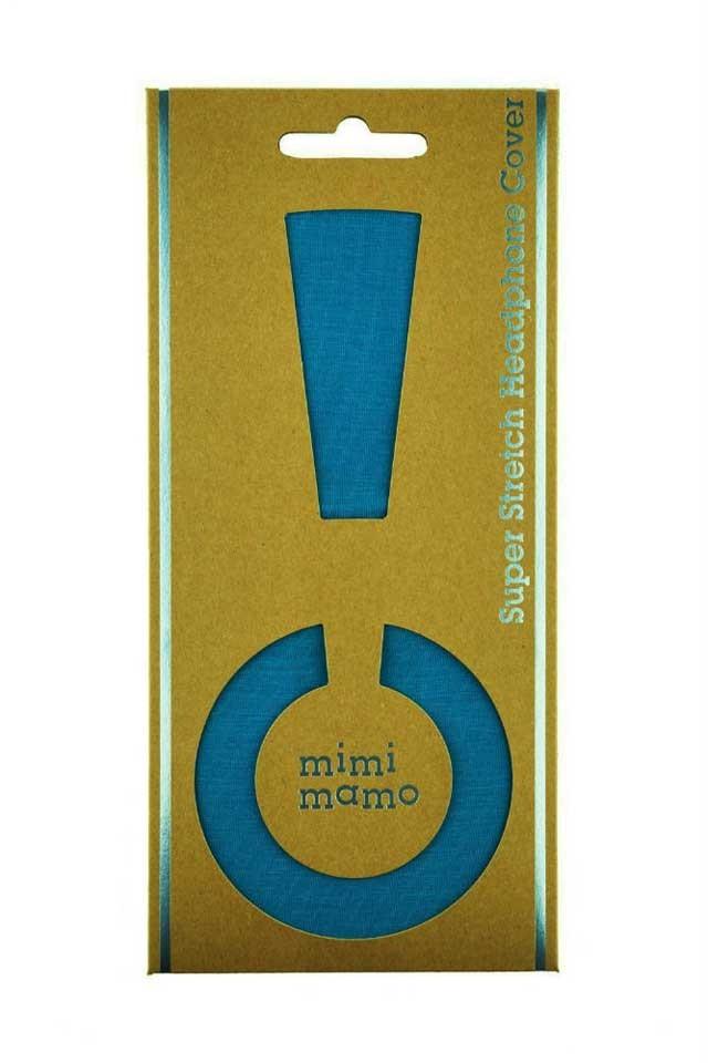 mimimamo/スーパーストレッチヘッドホンカバー L (ブルー) 【在庫あり】【ネコポス発送】