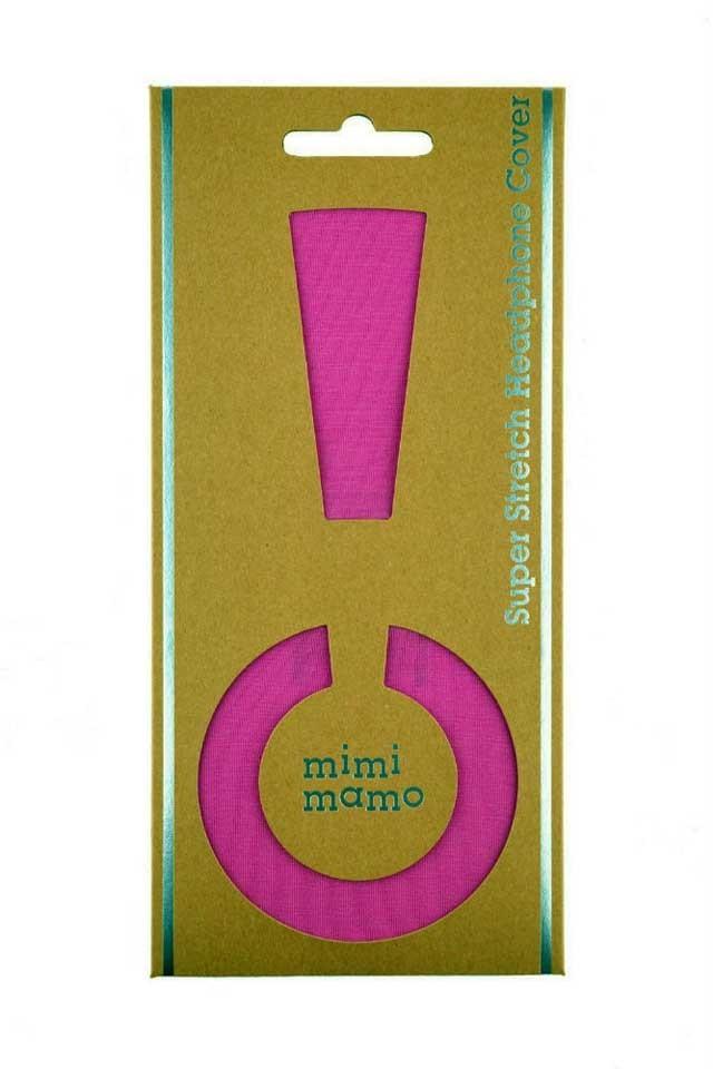 mimimamo/スーパーストレッチヘッドホンカバー L (ピンク)【在庫あり】【ネコポス発送】