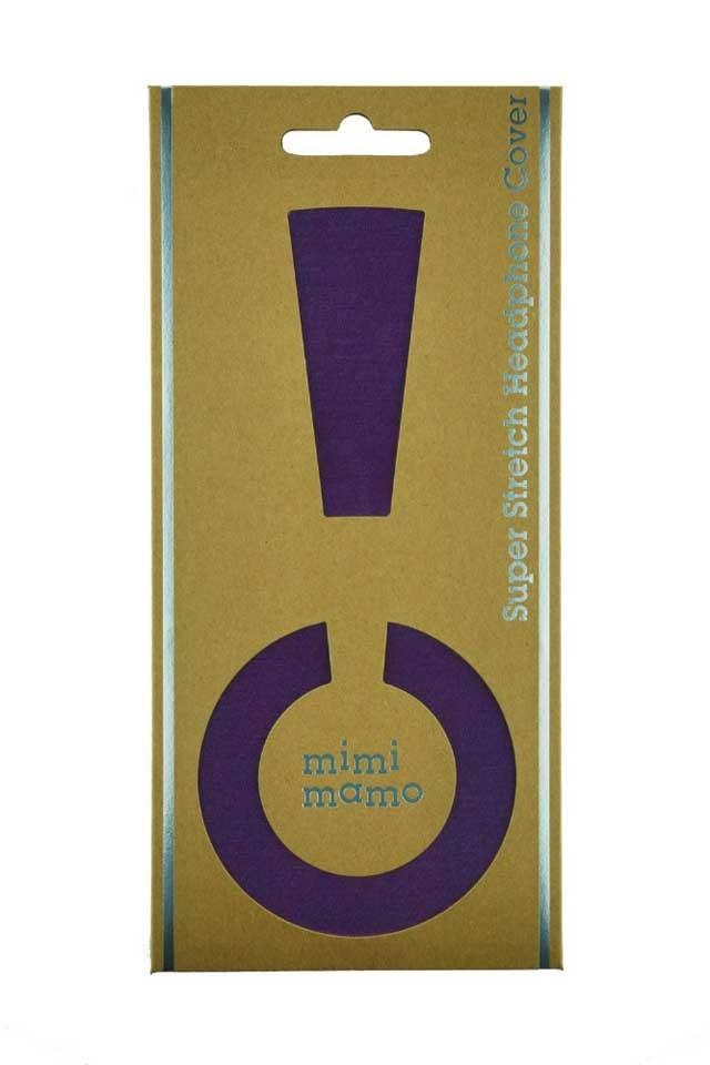 mimimamo/スーパーストレッチヘッドホンカバー L (パープル)【在庫あり】【ネコポス発送】