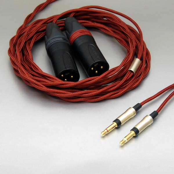 onso/hpct_03 ヘッドホンケーブル 3ピンXLR-3.5mmモノx2 1.2m
