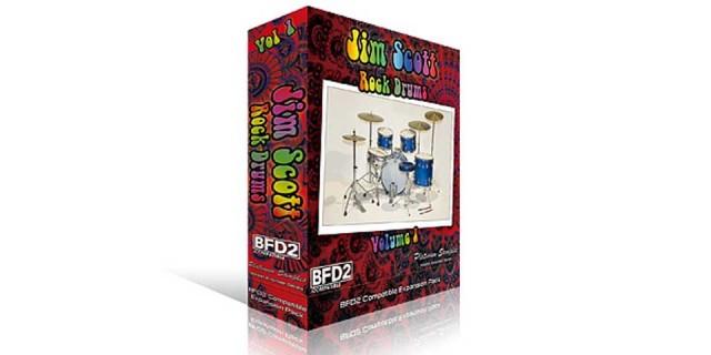 Platinum Samples / Jim Scott Rock Drums Vol 1 for BFD