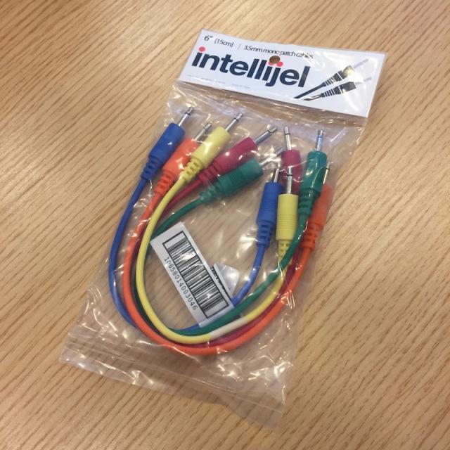 Intellijel/3.5mm MonoPatchCable 5本パック 15cm【在庫あり】