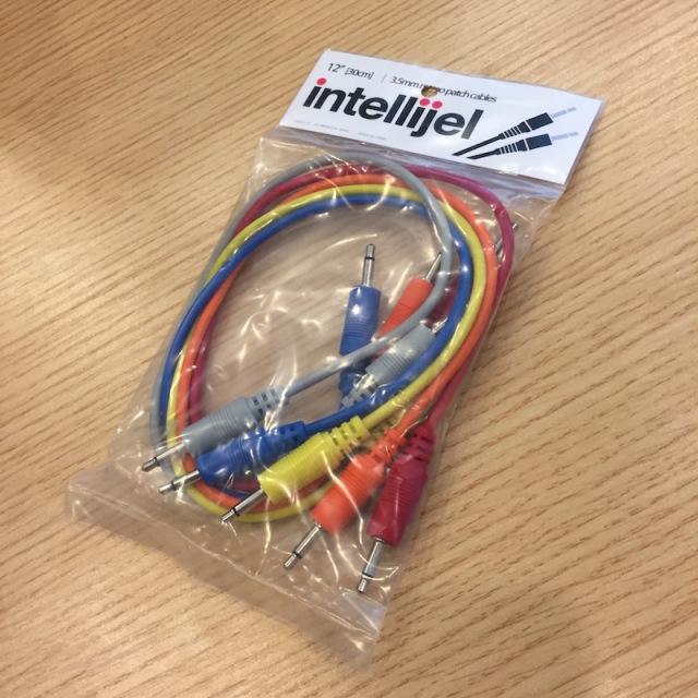 Intellijel/3.5mm MonoPatchCable 5本パック 30cm【在庫あり】