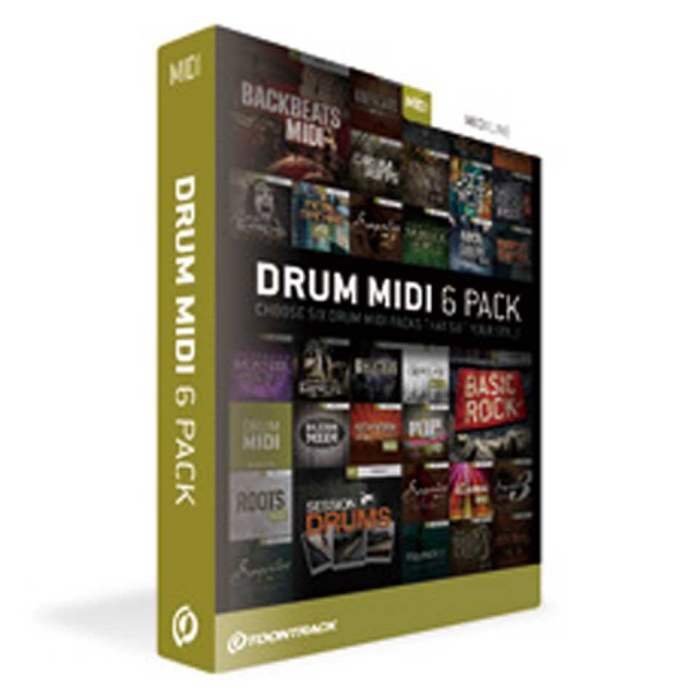 TOONTRACK/DRUM MIDI 6PACK
