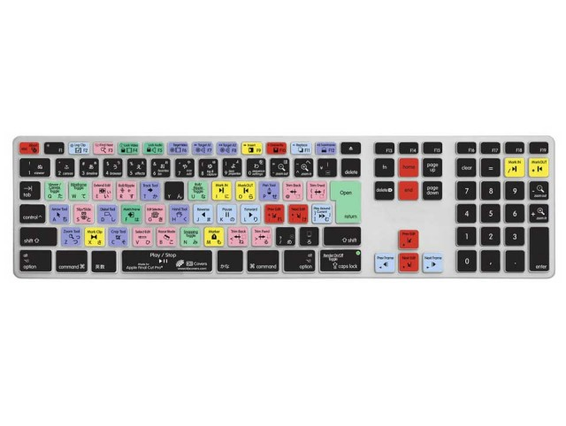 KB Covers Clearskin/for Final Cut Pro/Apple Ultra-Thin Aluminium Keyboard【JIS配列】