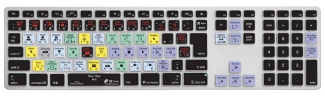 KB Covers/for Final Cut Pro X/Apple Ultra-Thin Aluminium Keyboard/JIS【FCPX-AK-JIS-CC】