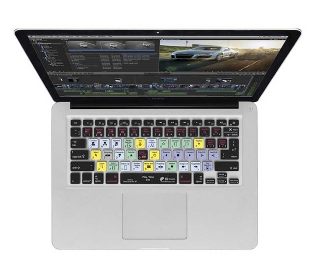 KB Covers | for Final Cut Pro X Apple MacBook Pro / MacBook Air / Appleワイヤレスキーボード(テンキー無し) US配列【FCPX-M-CC2】