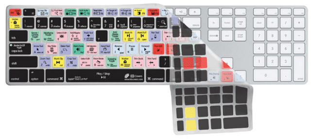 KB Covers Clearskin/for Final Cut Pro/Apple Ultra-Thin Aluminium Keyboard【FC-AK-CC】【US配列】
