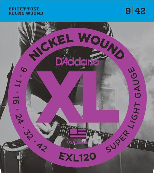 D'Addario/EXL120 エレキギター弦 009~042【ダダリオ】【在庫あり】
