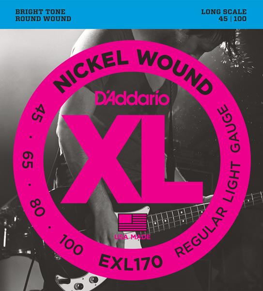 D'Addario/EXL170 エレキベース弦 045-100【ダダリオ】【ロングスケール】【在庫あり】