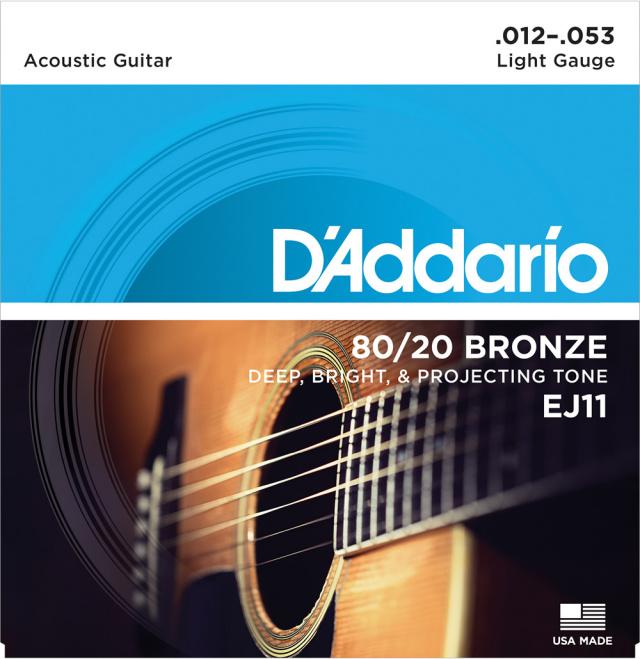 D'Addario/EJ11 アコースティックギター弦 012~053【ダダリオ】【ブロンズ】【在庫あり】