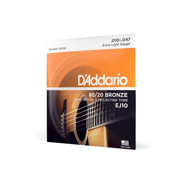 D'Addario/EJ10 アコースティックギター弦 010~047【ダダリオ】【ブロンズ】【在庫あり】