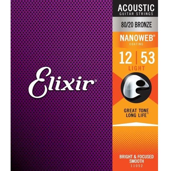 Elixir/11052 NANOWEB アコースティックギター弦 12~53【エリクサー】【ブロンズ】【在庫あり】
