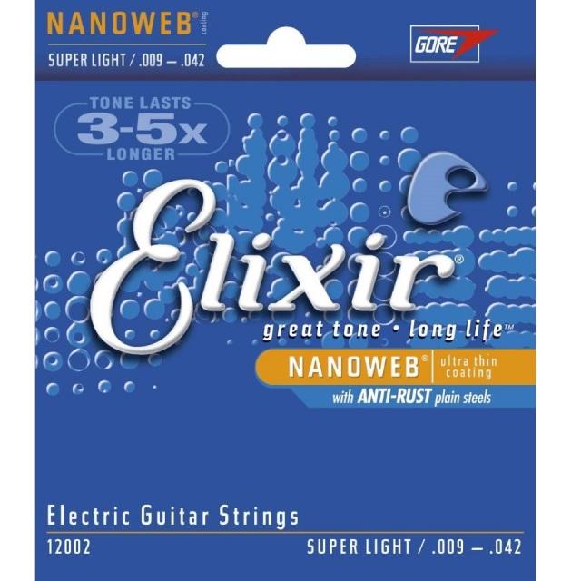 Elixir/12002 NANOWEB エレキギター弦 09-42【エリクサー】【在庫あり】