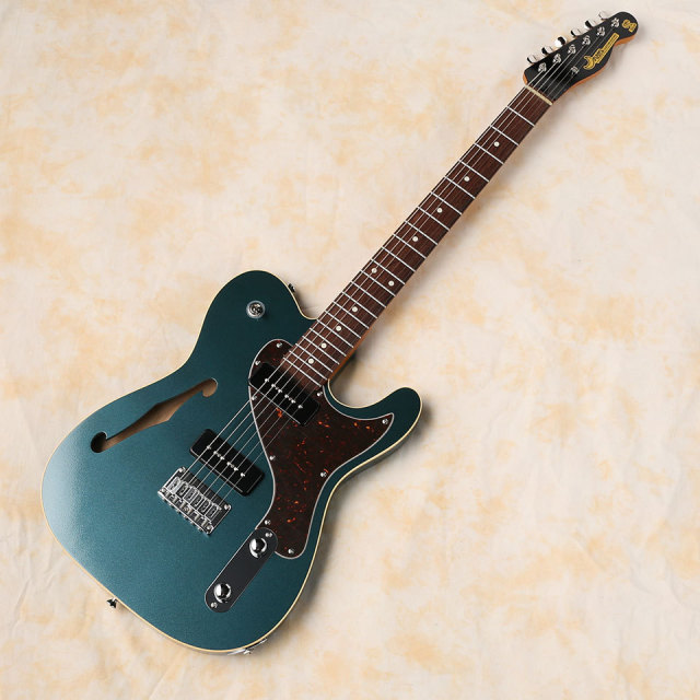 """Moon/RM """"REGGAE MASTER"""" SP ASH Thinline Limited 2020 (Green Turquoise / Rose)"""
