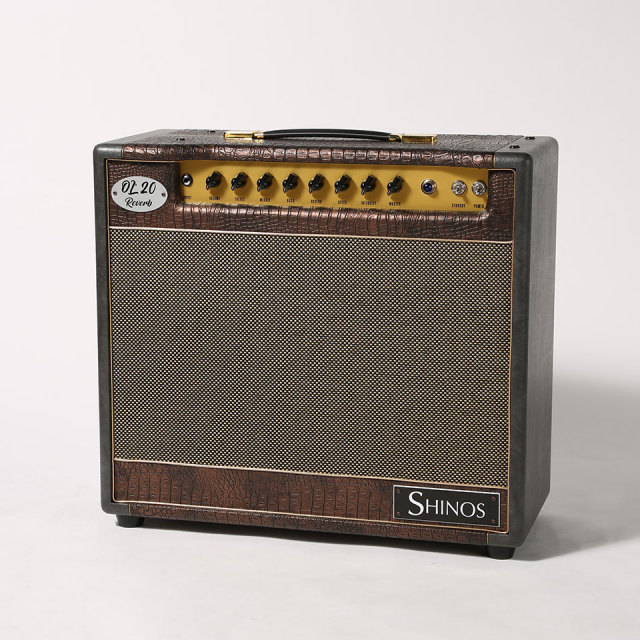 SHINOS/OL'20 Reverb Limited #003 (Gold Panel / Gold Piping / Croc Leather &Black Gray ) 【在庫あり】
