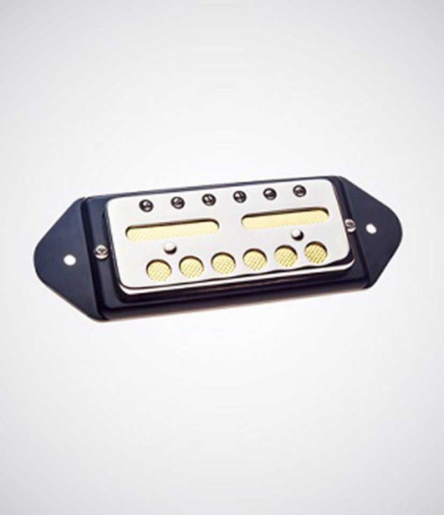 LOLLAR PICKUPS/GOLD FOIL P-90 Dogear Mount (Nickel/Black/Bridge) 【送料無料】【お取り寄せ商品】