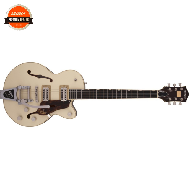 Gretsch/G6659T Players Edition Broadkaster Jr. Center Block Single-Cut with String-Thru Bigsby 2-Tone Lotus Ivory/Walnut Stain【受注生産】