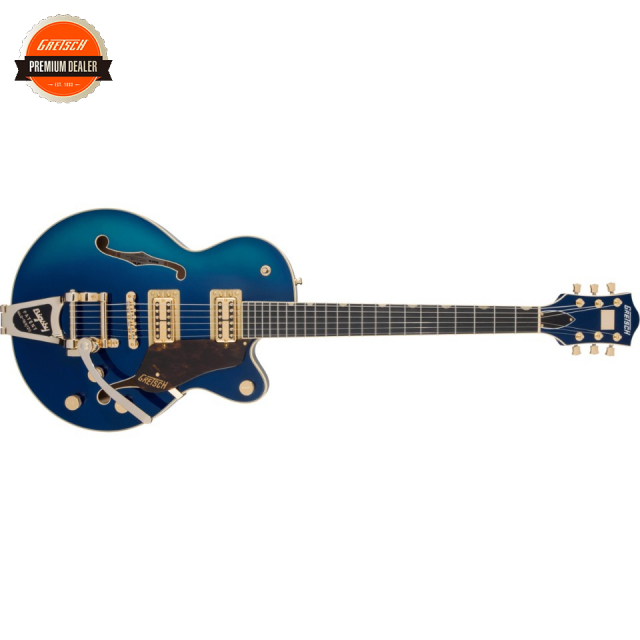 Gretsch/G6659TG Players Edition Broadkaster Jr. Center Block Single-Cut with String-Thru Bigsby and Gold Hardware Azure Metallic【受注生産】