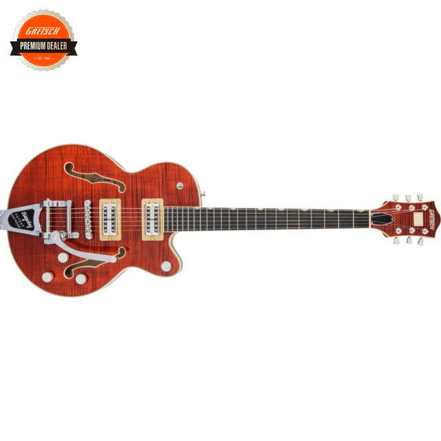 Gretsch/G6659TFM Players Edition Broadkaster Jr. Center Block Single-Cut with String-Thru Bigsby and Flame Maple Bourbon Stain【お取寄商品】【グレッチ】