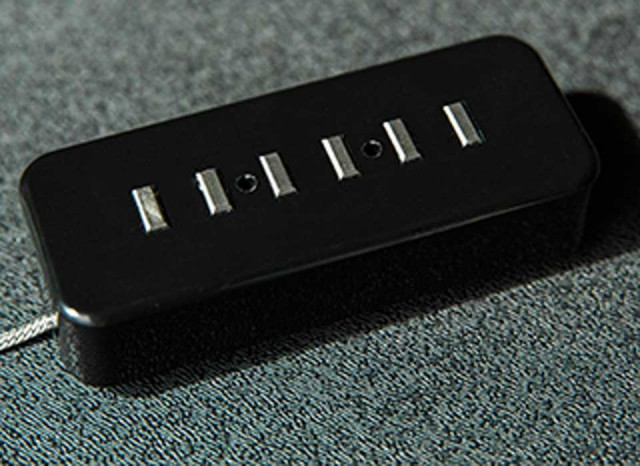 LOLLAR PICKUPS/P-90 Staple Pickup Black / Neck【在庫あり】