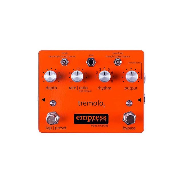 Empress Effects/Tremolo2【Tap Tempo Tremolo/タップ テンポ トレモロ】【お取り寄せ商品】