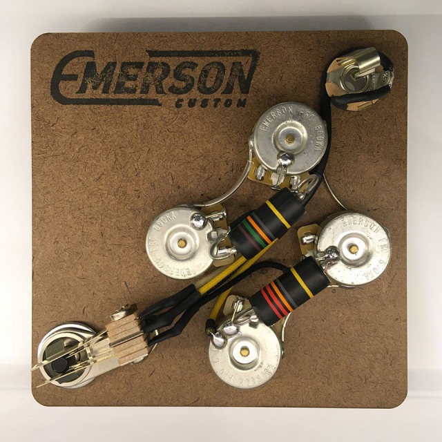 Emerson Custom/SG PREWIRED KIT (500K Pots, 0.022uf & 0.015uf Bumblebee Capacitors)【お取り寄せ商品】
