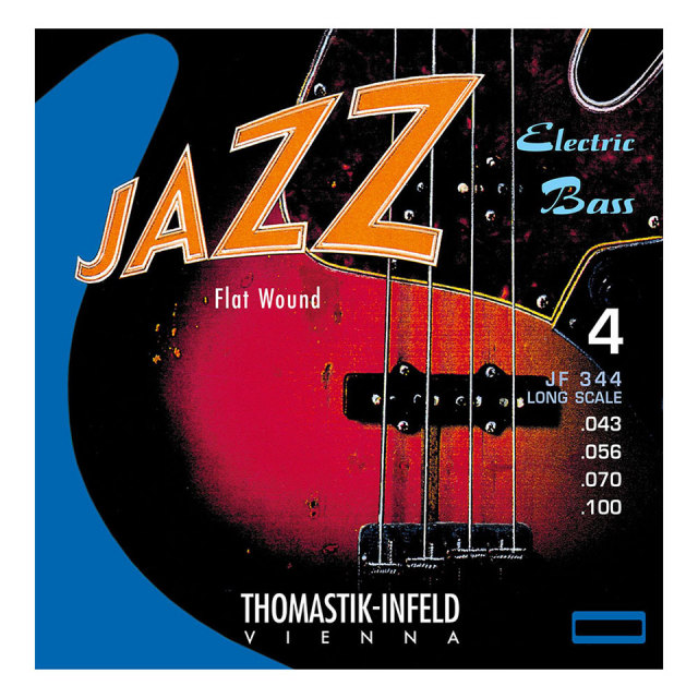 Thomastik-Infeld/JF344 Nickel Flat Wound Roundcore Bass Strings for Long Scale 4-strings