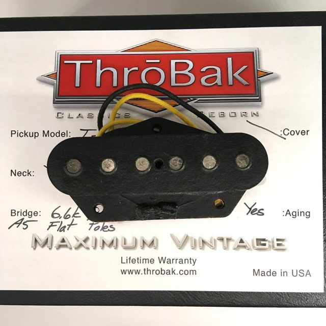 ThroBak/T-54 MXV- ThroBak Tele Guitar Pickup / Bridge / Aged
