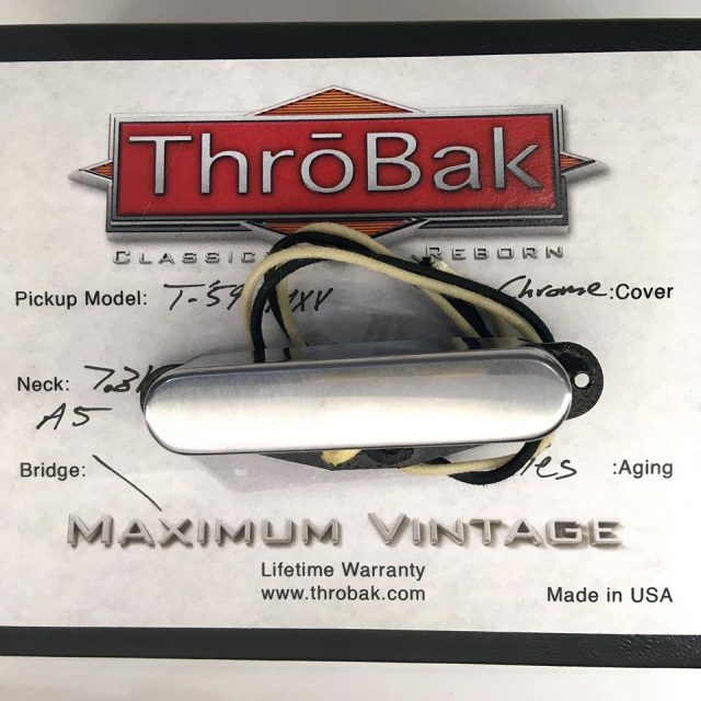 ThroBak/T-59 MXV - ThroBak Tele Guitar Pickup / Neck / Aged Crome【お取り寄せ商品】