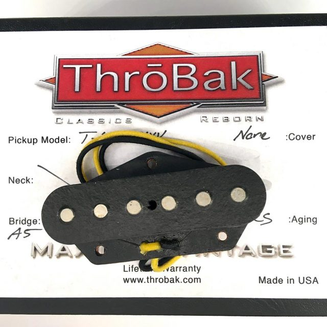 ThroBak/T-59 MXV- ThroBak Tele Guitar Pickup / Bridge / Aged