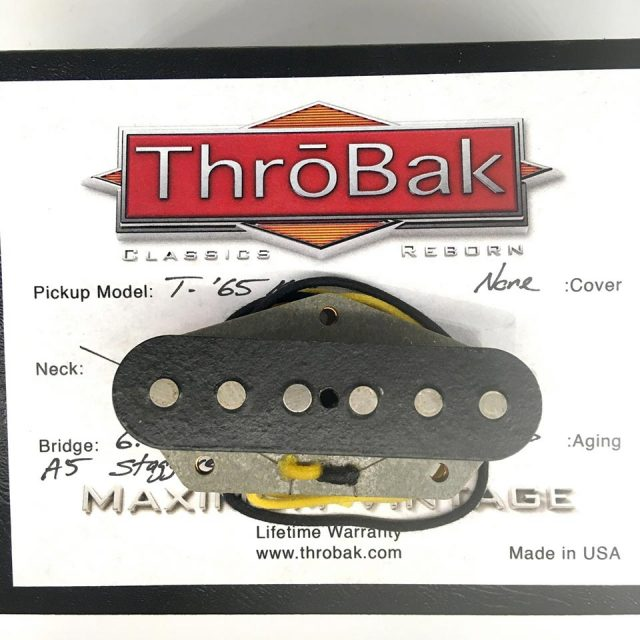 ThroBak/T-65 MXV- ThroBak Tele Guitar Pickup / Bridge / Aged