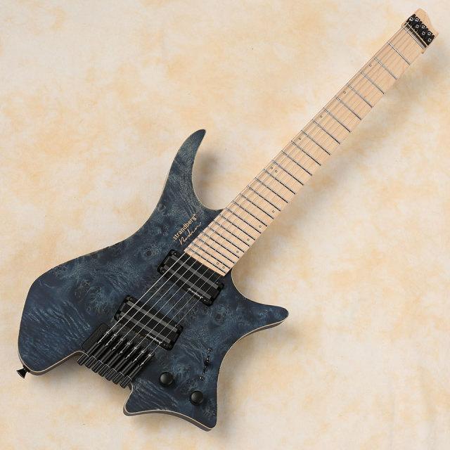 strandberg/Boden J7 STD Standard Poplar Burl/Swamp Ash w/Alumitone (Dark Blue Black/Maple)