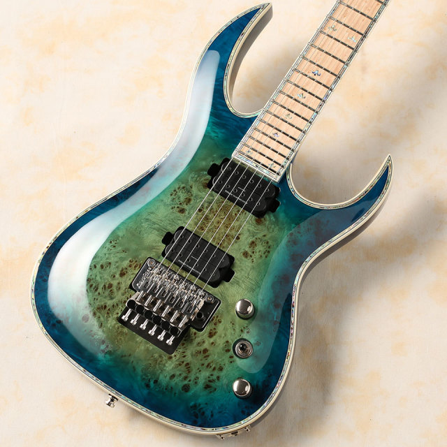 B.C.Rich/Shredzilla Z6 Prophecy Exotic with Floyd Rose (Cyan Blue)